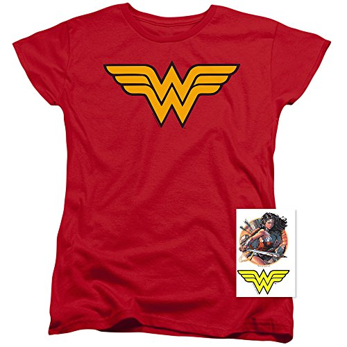 Wonder+Woman+Shirts Products : Wonder Woman Logo Women's T Shirt & Exclusive Stickers