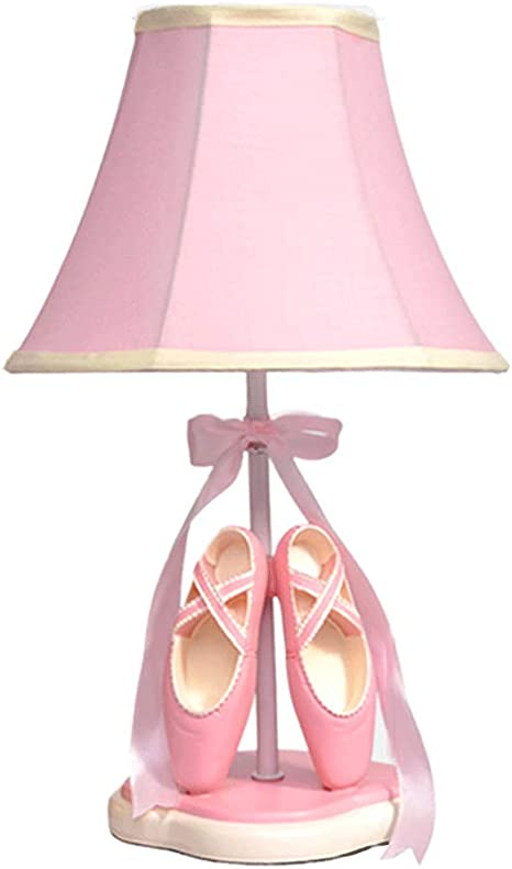 Cute Ballet Shoes Table Lamp Pink Warm Bedroom Bedside Lamp Creative Nordic Princess Girl Children Room Decoration Table Lamp Dimmable Amazon Com