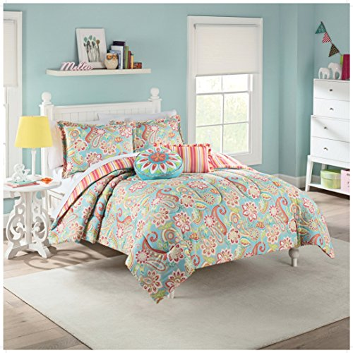 WAVERLY Kids Wild Card Reversible Bedding Collection, Twin, Multicolor - Paisley Twin Comforter