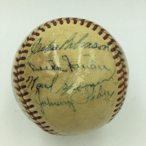 1955 Brooklyn Dodgers WS Champs Team Signed Baseball Jackie Robinson COA - JSA Certified - Autographed Baseballs