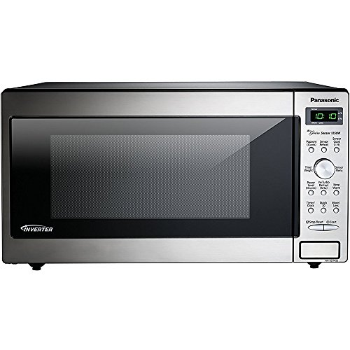 - PANASONIC Compact Microwave Oven Built In / Countertop with Inverter Technology and 1250W of Cooking Power - NN-SD745S - 1.6 cu. Ft (Stainless Steel / Silver)