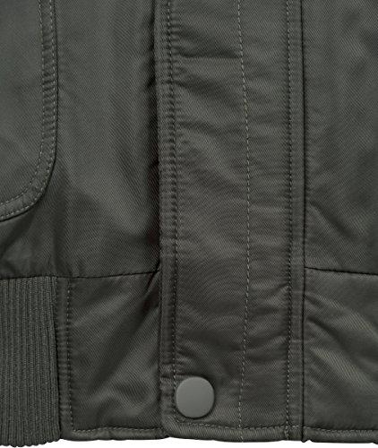 darkolive Jacket Fur Heavy Uomo Classics Bomber Fake Urban Grün Hooded 551 qxTz6w7