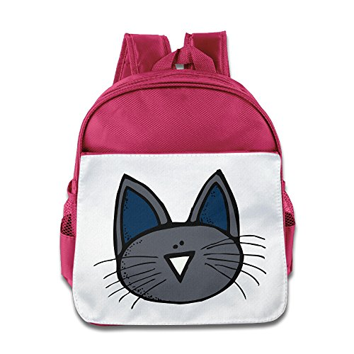 Discovery Wild Kids Child Backpack Satchel School Book Bag, Cute Cat Face - Pink
