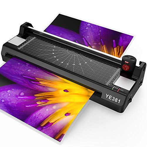A3 Laminator Machine, Thermal Laminating Machine for Home Office School Use (11.7'' Max Width Laminating) with 20 3Mil Laminating Pouches, Paper Trimmer and Corner Rounder