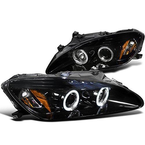 Spec-D Tuning 2LHP-S2K00G-TM Honda S2000 Dual Halo Led Glossy Black Projector Headlights