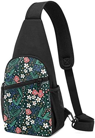 ボディ肩掛け 斜め掛け 花柄 ショルダーバッグ ワンショルダーバッグ メンズ 軽量 大容量 多機能レジャーバックパック