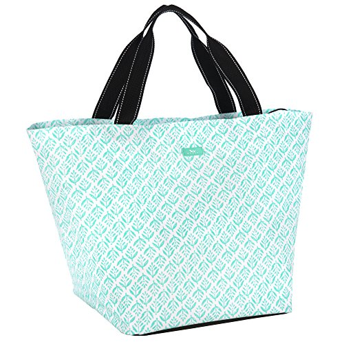SCOUT Weekender Travel Tote Carry On Bag, Internal Zippered Pouch, Water Resistant, Zips Closed, Aqua Fresca