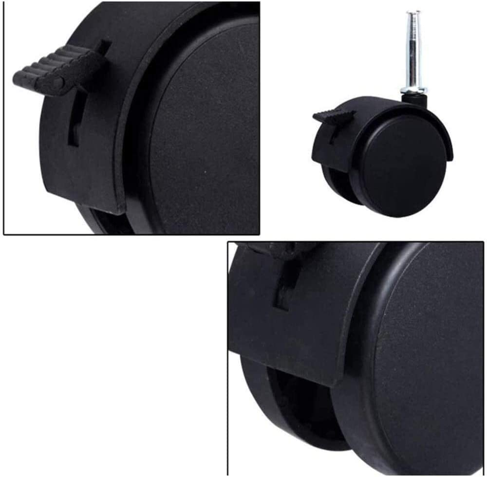 DONG60q 2 in Swivel Castor Wheel,4 Pcs,Nylon Brake Castor Wheels Color : C, Size : 96x50mm Insert Rod M7mmX38mm,for Furniture,Baby Cot,Desk Cabinet