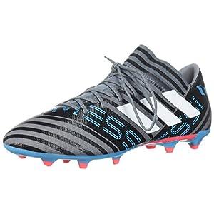 adidas Performance Men's Nemeziz Messi 17.3 FG Soccer Shoe, Grey/White/Core Black, 7 M US