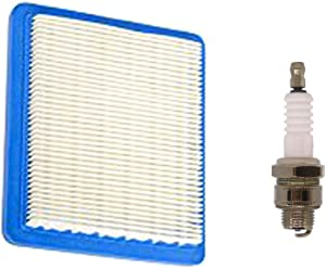 Atoparts Air Filter Spark Plug Fit Briggs & Stratton 625e 675ex 725ex 625-675 Series and Quantum 3.5-6.75 Gross HP Push Mowers