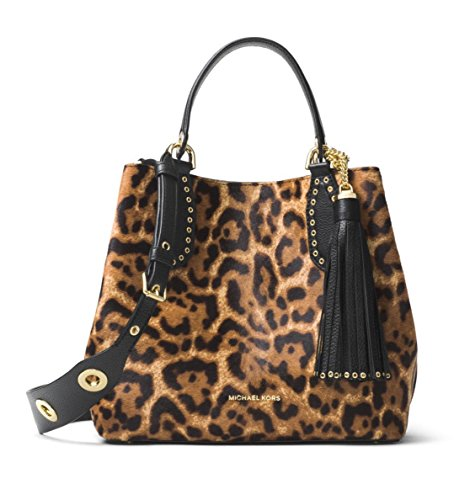 MICHAEL Michael Kors Brooklyn Medium Calf Hair Leather Tote in - Bag Mk Leopard