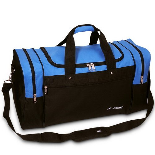 Everest S-219L Sports Duffel – Royal Blue/Black For Sale