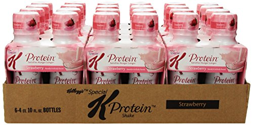 Special K Protein Shakes, Strawberry, 4-Count  10oz. Bottles (Pack of 6)