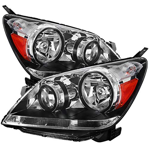 - Carpartsinnovate Fit 05-07 Honda Odyssey Replacement Clear Lens Headlights Driving Headlamps Pair