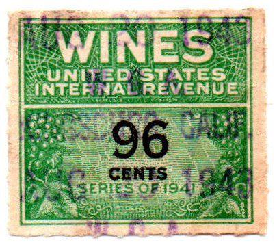 Amazon USA Wines Stamp Single 1941 Internal Revenue Wine Issue 96 Cent Scott RE145 Everything Else