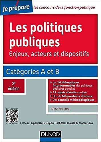 Téléchargement Les politiques publiques - 3e éd. - Catégories A et B - concours IRA epub, pdf