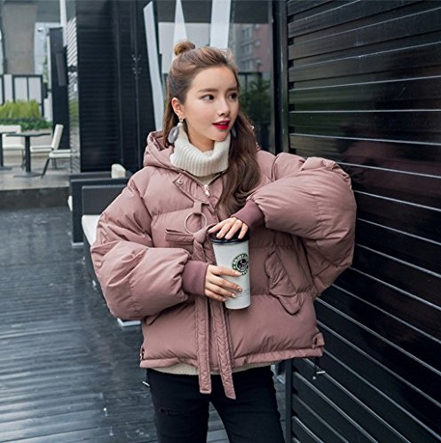 bean Coat Jackets Sleeve Downwear Clothes Winter Cotton paste Bunches Small College Red Feathers Cotton Winds Long Women'S Belt Xuanku TO0xn