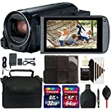 Canon VIXIA HF R800 HD Camcorder (Black) + 96GB Memory Card + Wallet + Reader + Lens Pen + Dust Blower + Case + 3pc Cleaning Kit
