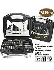 75 Piece Drill and Drive Accessory Set,Drill bits,Drill bit Set,Drill Set,Drilling Driving kit,Tool kit,Home Tool kit,Home Repair Tools,Tool Set,Tools