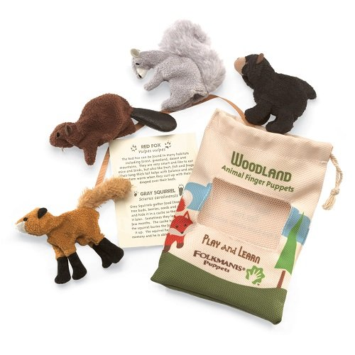 Folkmanis Woodland Animal Finger Puppet Set