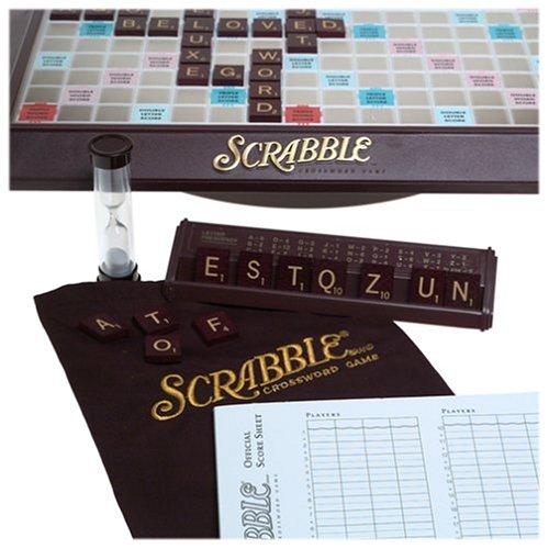 Milton Bradley Scrabble Deluxe Turntable Game by Hasbro G...