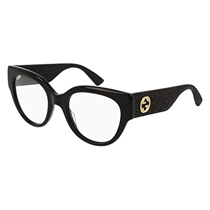 c91ae6be15b Gucci Women s Eyeglasses Gg 0103 O 001 Black  Amazon.in  Clothing    Accessories