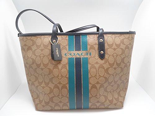 Coach Varsity Stripe Signature Handbag