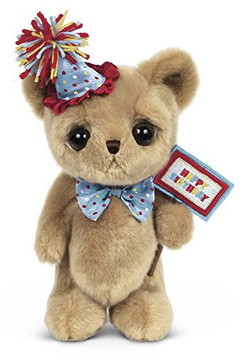 Bearington Big Head Party Ted, Birthday Celebration Plush Stuffed Animal Teddy Bear, 12