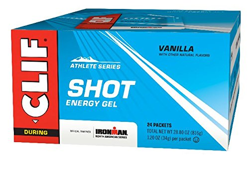 CLIF SHOT – Energy Gel – Vanilla – No Caffeine 1.2 Ounce Packet, 24 Count