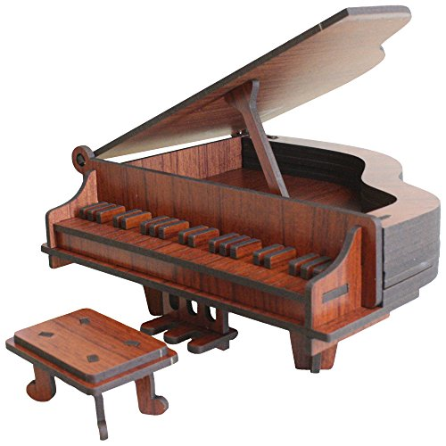 Piano 3D Puzzle - Rosewood Color - Rosewood Puzzles Inc. - Fun Mind-Challenging 3D Puzzle!