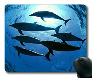 Lilyshouse Dolphins in the Deep Sea 002 Rectangle Mouse Pad