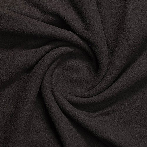 ProTEC Premium Micro Fleece Fabric (Made in USA, Black, sold by the yard)