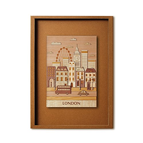KINOWA Wooden Art Kit Kiharie London Made in Japan