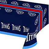 Creative Converting Officially Licensed NFL Plastic Table Cover, 54x102, Tennessee Titans