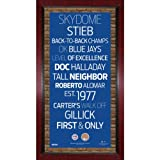 Toronto Blue Jays Subway Sign Wall Art 16 Inch X 32 Inch Frame With Authentic Dirt From The Rogers Centre