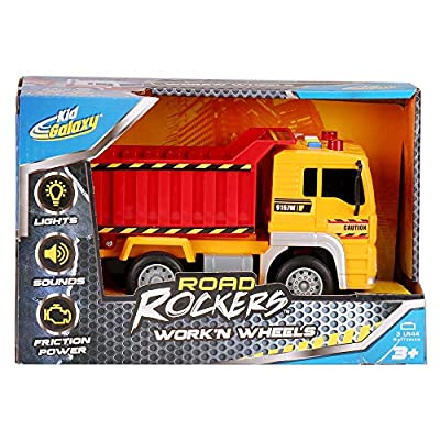 Kid Galaxy Road Rockers Work'n Wheels Dump Truck w/ Lights & Sounds: Toys & Games