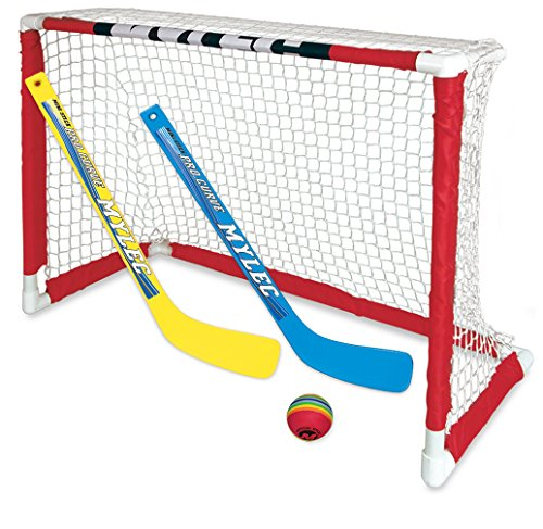 NEW Zetterberg Mylec Pro Style Mini Hockey Goal Set, - Foam Mylec Puck Hockey