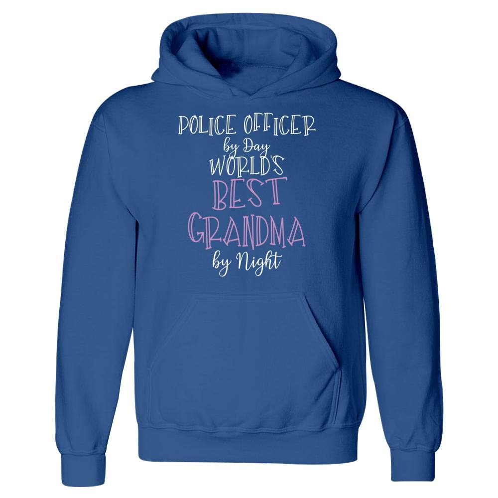 Police Officer by Day Worlds Best Grandma by Night Hoodie