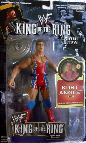 KURT ANGLE - WWE WWF Wrestling Limited Edition King of the Ring 2001 Figure by Jakks Pacific