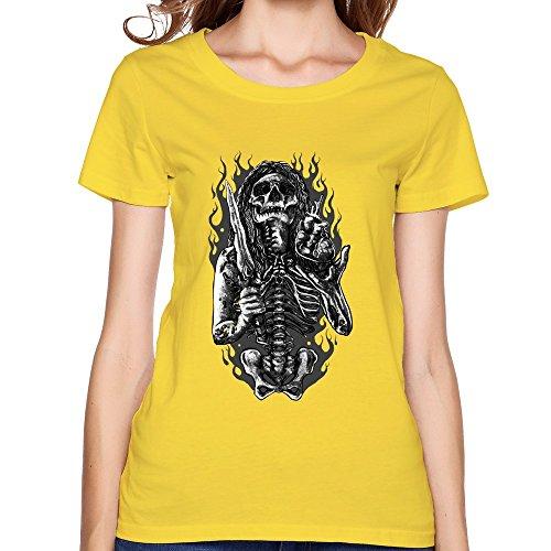 LFD Women's Taker Life Cotton Round Collar T Shirt 22 Yellow