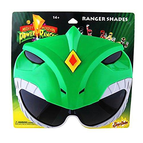 Sun-Stache Power Rangers - Sun Glasses - Shades - Sunstache - Green -