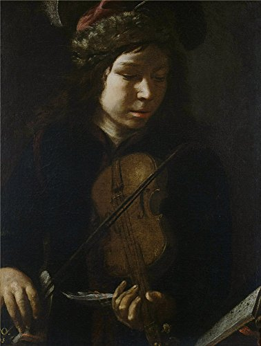 Oil Painting 'Anonymous Joven Violinista 17 Century', 10 x 13 inch / 25 x 34 cm , on High Definition HD canvas prints is for Gifts And Bed Room, Nursery And Study Room Decoration, graphy