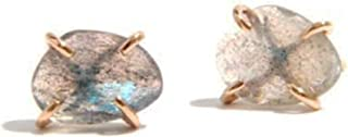product image for Melissa Joy Manning Claw Freeform Labradorite Stone Stud Earrings