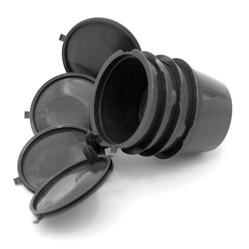 Donpow Lot de 4 capsules en plastique rechargeables avec couvercles pour machines /à caf/é Dolce Gusto avec cuill/ère noir Marron