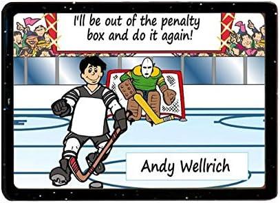 Amazon Com Personalized Ntt Cartoon Caricature Magnet Gift Hockey Player Male Kitchen Dining