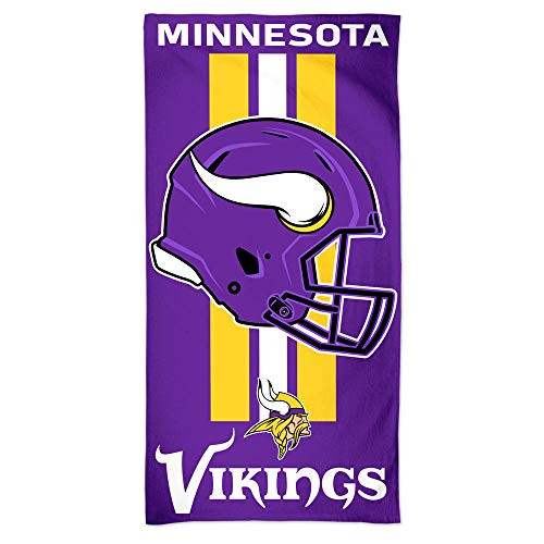 WinCraft NFL Minnesota Vikings Towel30x60 Beach Towel, Team Colors, One -