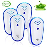 Ultrasonic Pest Repeller, Electronic Indoor Control Plug in -Get Rid of Rodents, Squirrels, Mice, Roaches, Spiders, Fleas, Bed Bugs, Flies, Ants -Pest Defender for Children and Pets' Safe (Blue)