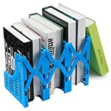 Loghot Adjustable 3 Slots Plastic Magazine/File Holders Desktop Organizer for Organization Office & Home Desktop (Blue)