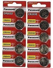 Panasonic CR2032 3V Lithium Battery 10 Batteries