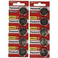 [ 10 pcs ] -- Panasonic Cr2032 3v Lithium Coin Cell...